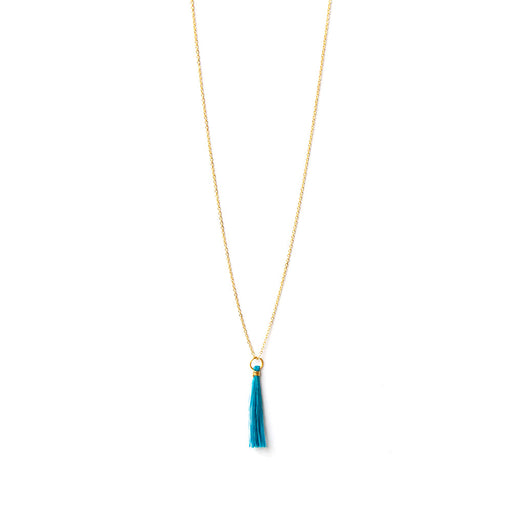 TASSLE NECKLACE SWAZI <br>Blue