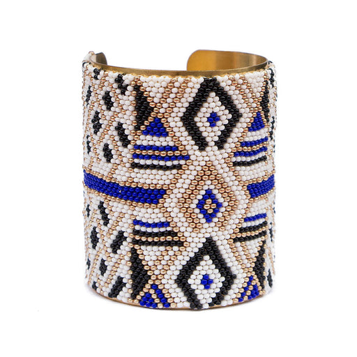 Large Cuff <br>Dark Blue And Gold