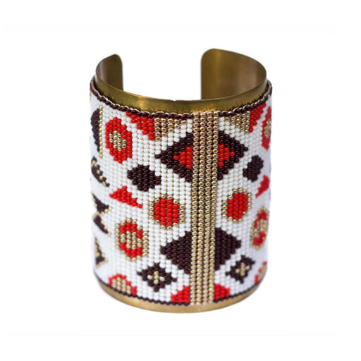 Large Cuff <br>Red And Gold