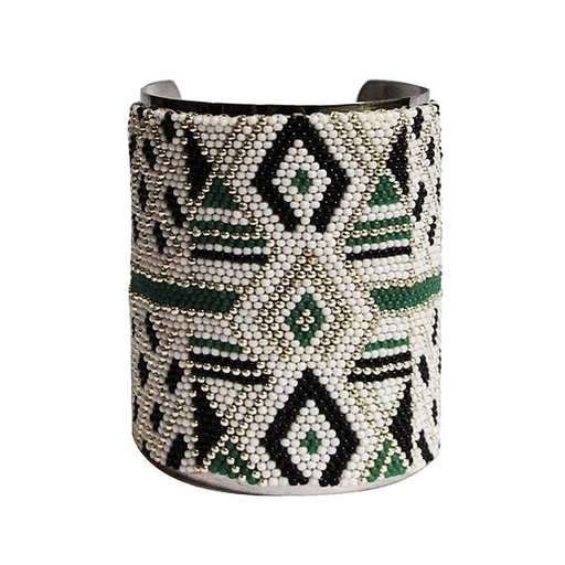 LARGE CUFF <br>Green and Silver