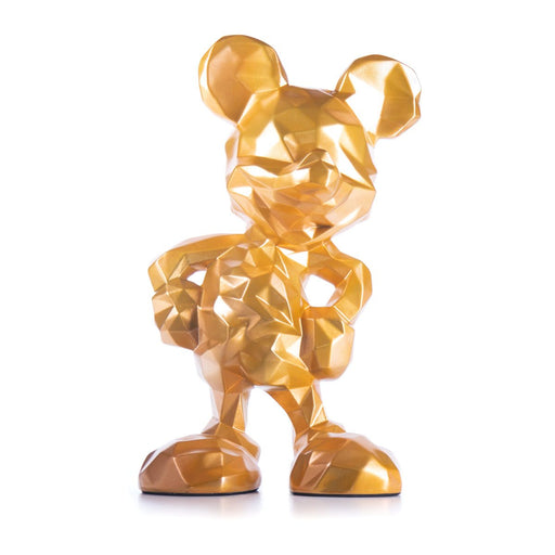 MICKEY LOW POLY <br> LARGE GOLD