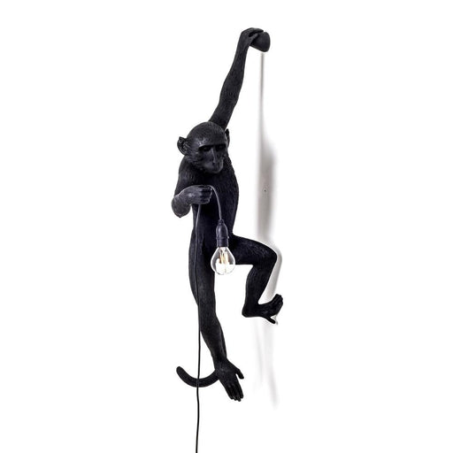 HANGING MONKEY LAMP <br> BLACK