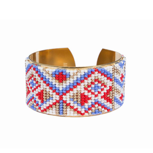 MEDIUM CUFF <br>Red Blue and Gold