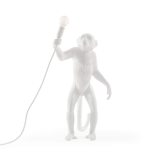 STANDING MONKEY<br>INDOOR LAMP <br> WHITE