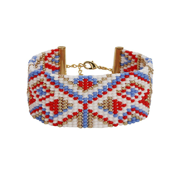 MEDIUM BRACELET <br>Red Blue and Gold
