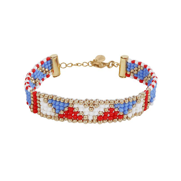 THIN BRACELET <br>Red Blue and Gold