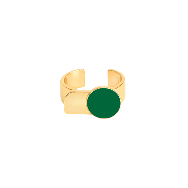 Arty Ring <br> Emerald Green