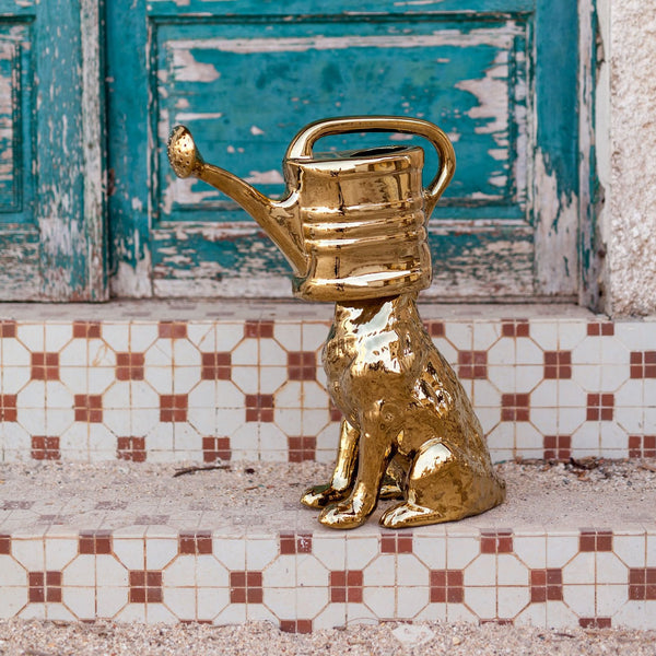 Wolf Watering Can <br> Gold <br> (L 47 X W 22 X H 53) cm