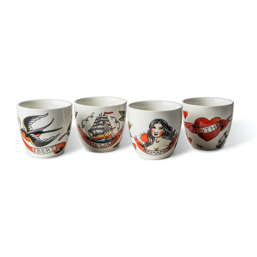 Tattoo Cup <br> Set of 4 <br> 300 ml