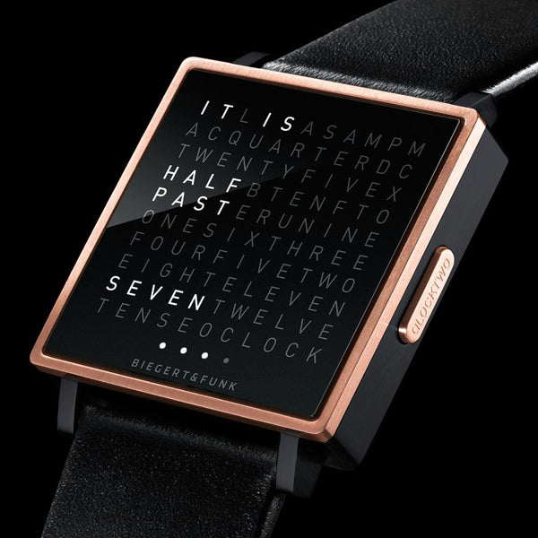 QLOCKTWO W35 <br/>ROSE GOLD