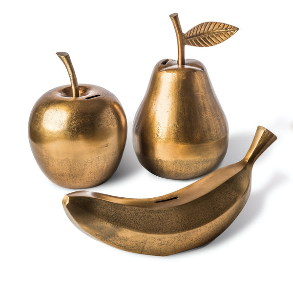 MONEY BOX <br> APPLE <br> (Ø 16 x H 23) CM