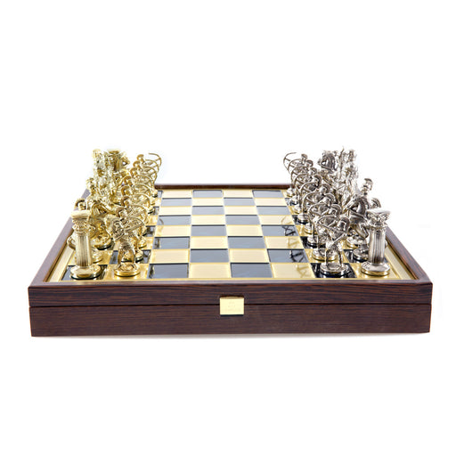 CHESS SET <br> ARCHERS ON WOODEN BOX