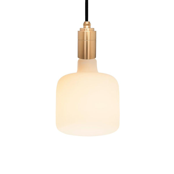 BRASS PENDANT WITH Porcelain Bulbs