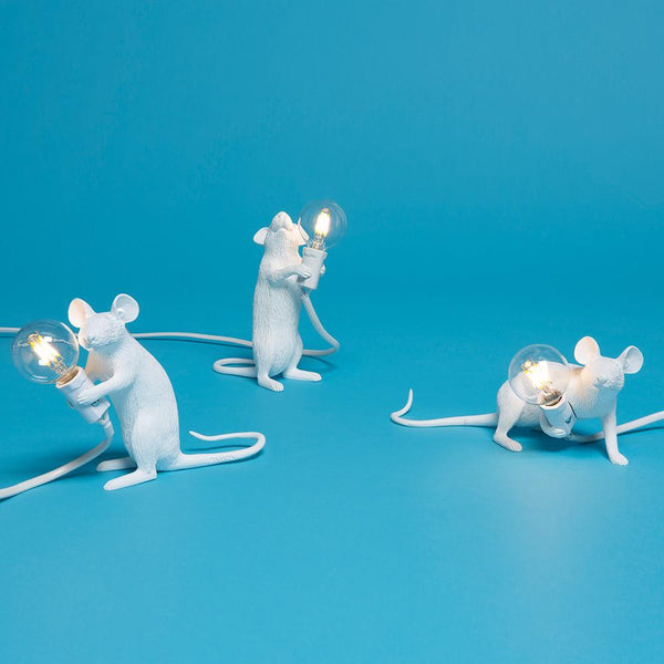 STANDING MOUSE<br>INDOOR LAMP <br> WHITE