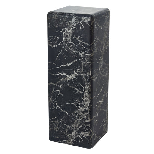 PILLAR MARBLE SIDE TABLE <br> (L 33 x W 33 x H 91.4) cm