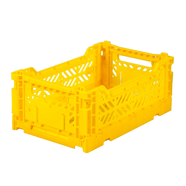 Folding Crate <br> Yellow <br> (L 27 x W 17 x H 11) cm