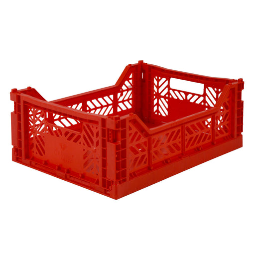 Folding Crate <br> Red <br> (L 40 x W 30 x H 14) cm