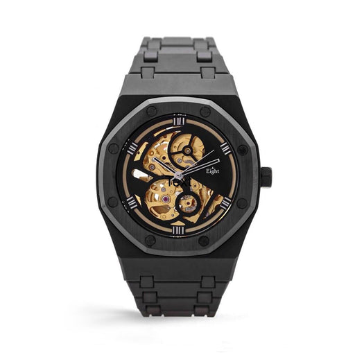 EIGHT KUWAIT <br> SKELETON WATCH GOLD