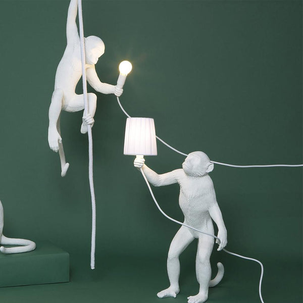 Standing Monkey <br> Indoor Lamp <br> (L 46 x W 27.5 x H 54) cm
