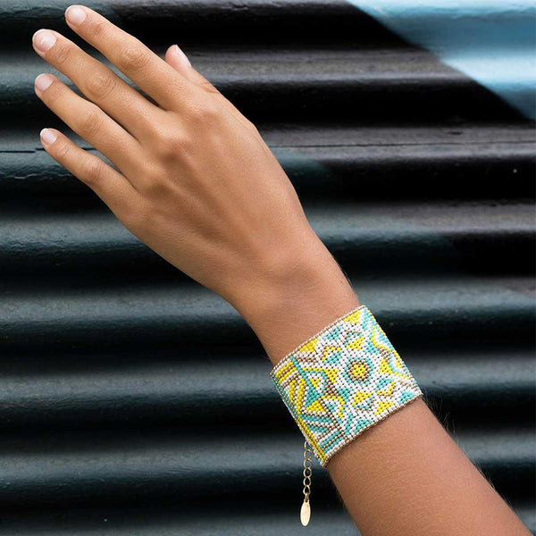 Bangle <br>Turquoise And Gold