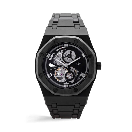 EIGHT KUWAIT <br> SKELETON WATCH SILVER