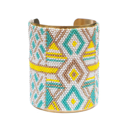 Large Cuff <br>Turquoise And Gold
