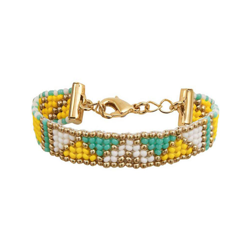 THIN BRACELET <br>Turquoise and Gold