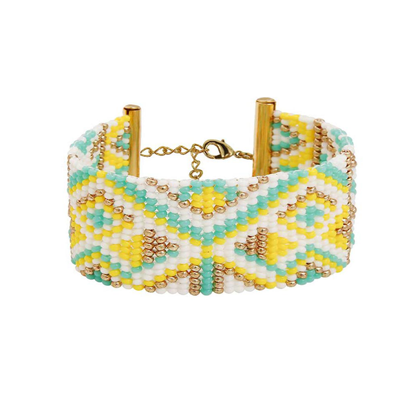 MEDIUM BRACELET <br>Turquoise and Gold