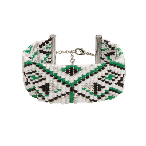 MEDIUM BRACELET <br>Green and Silver