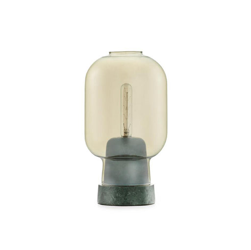 AMP TABLE LAMP <br> GOLD / GREEN