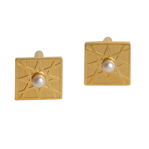 EL ARABESQUE<br> CUFFLINKS Gold Plated