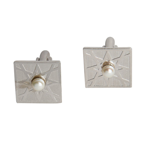 EL ARABESQUE<br> CUFFLINKS Platinum Plated