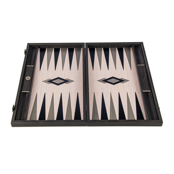 GRID WOOD ILLUSION <br> BACKGAMMON <br> (48 x 30) CM