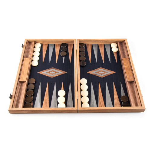 AMERICAN WALNUT WITH BLACK OAK <br> BACKGAMMON