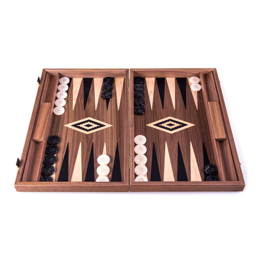 AMERICAN WALNUT<br>WITH SIDE RACK<br>BACKGAMMON