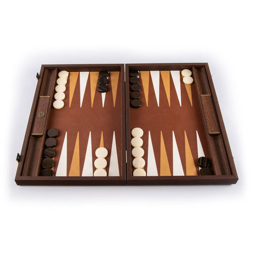 KNITTED LEATHER<br>IN BROWN COLOR<br>BACKGAMMON