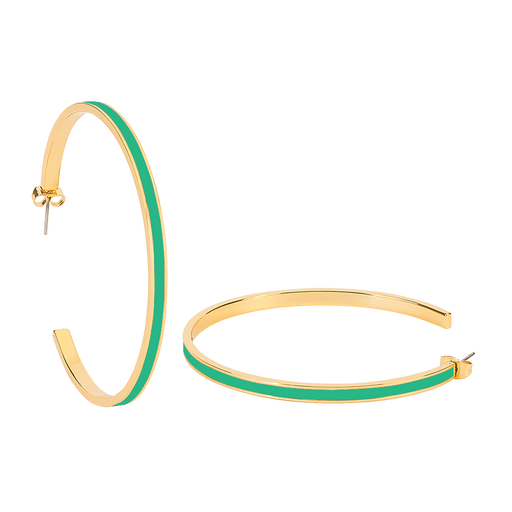 MAXI BANGLE EARRINGS <br>OPAL GREEN