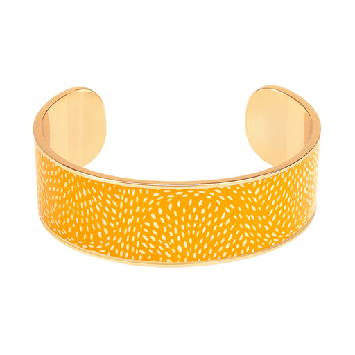 COSMOS THIN CUFFS<br> SAFFRON YELLOW
