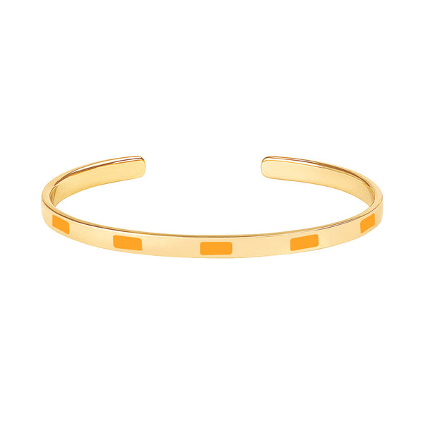 Tempo Thin Cuff <br> Saffron Yellow