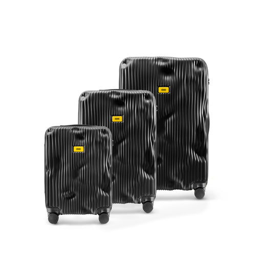 The Stripe Suitcase <br> Black <br> Set Of 3