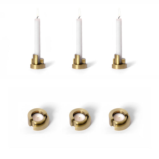 Circular Tealight & Candleholder <br> Set of 6