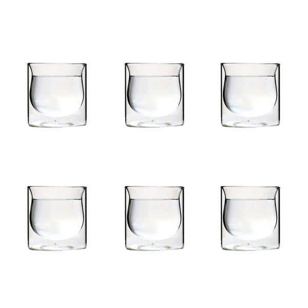 ORIENTAL GLASS CUP 9 CM <br> SET OF 6