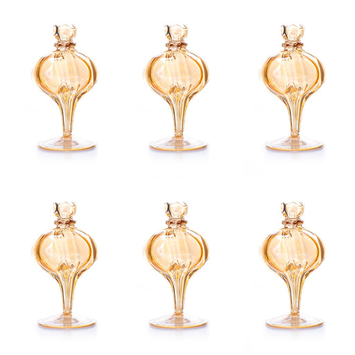 Amber Bubble Bud Vase <br> Set Of 6
