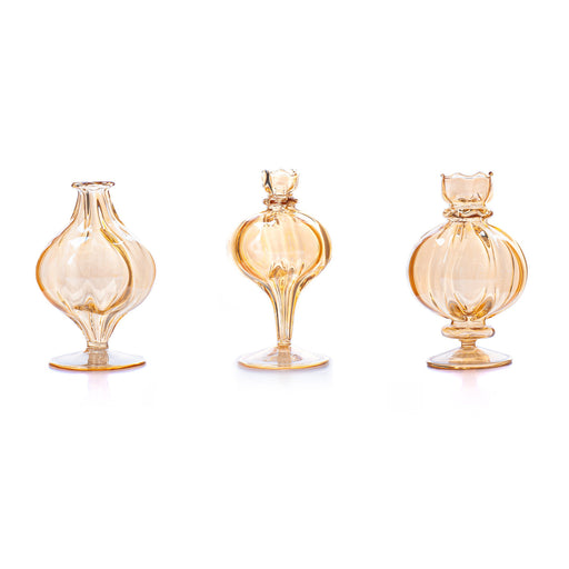 Set of 3 Styles: Amber Bubble Vase <br> Set Of 3