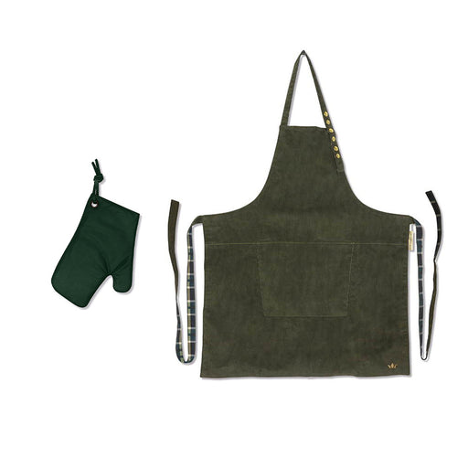 Green Oven Glove & Apron