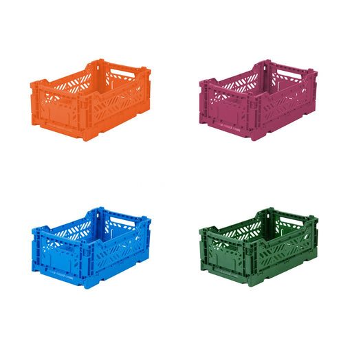 FOLDING CRATE <br> SET OF 4 <br> (L 27 X W 17 X H 11) CM