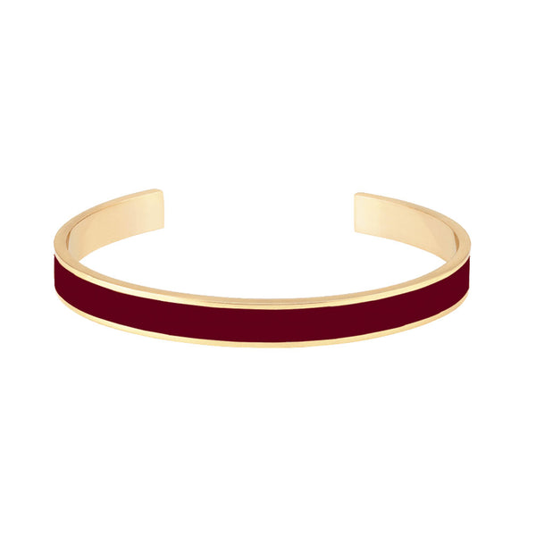 THIN BANGLE CUFF <BR> BURGUNDY