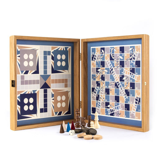 4 IN 1 COMBO <br> CHESS AND BACKGAMMON - LUDO AND SNAKES