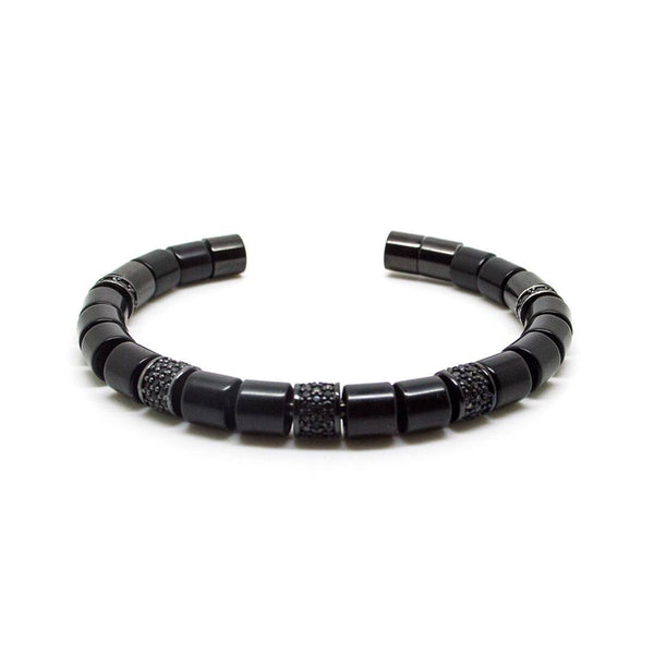 BEADED BANGLE <br> BLACK