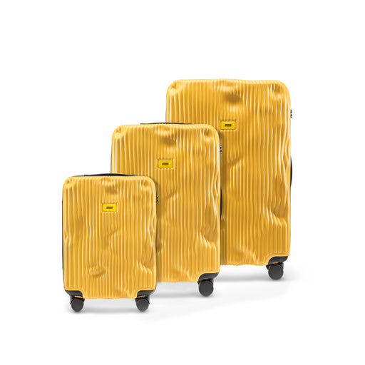 THE STRIPE SUITCASE <br>YELLOW <br> SET OF 3